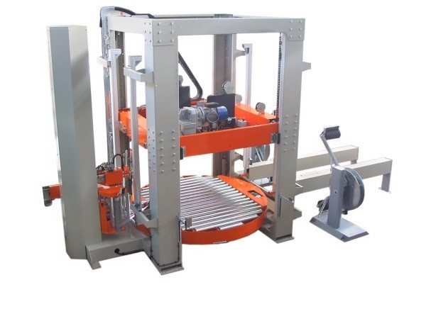 oms model avfp2 vertical compression strapping stretch machine